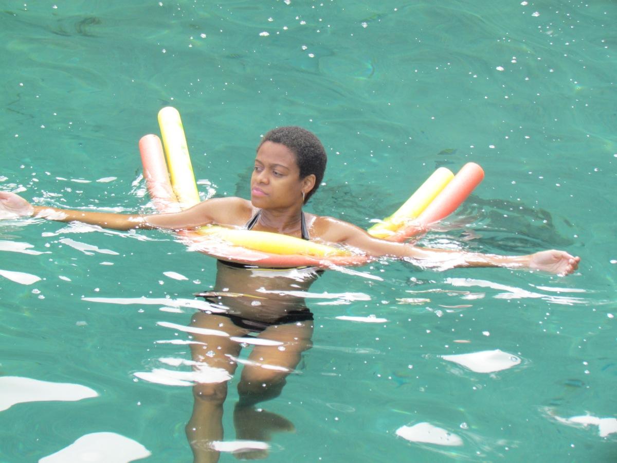 1) semana 25 +4 - Matias e eu nadando com os peixes